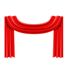 isolated red cloth vector image
