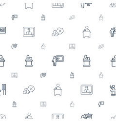 lecture icons pattern seamless white background vector image