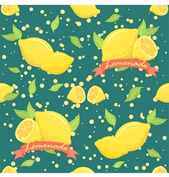 Lemonade Seamless Pattern Teal vector