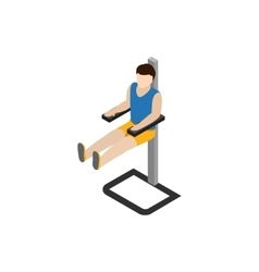 Man doing workout in gym icon isometric 3d style vector image