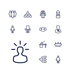 Manager icons vector