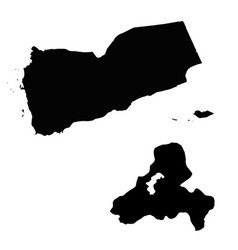Map yemen and sanaa country and capital vector