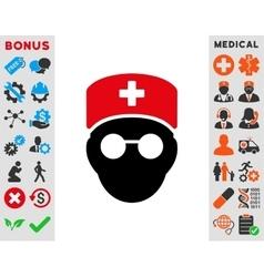 Medic Head Icon vector image