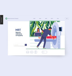 medical tests template - mrt vector image