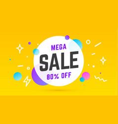 mega sale speech bubble banner poster speech vector image