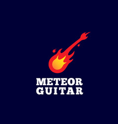 meteor guitar abstract sign emblem or logo vector image