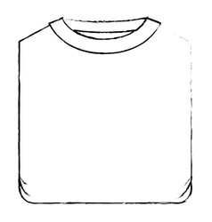 Monochrome blurred silhouette of man t-shirt vector