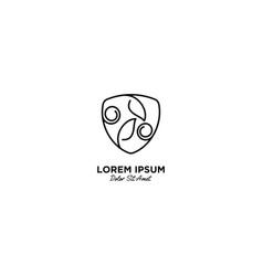Nature leaf logo line outline monoline art icon vector