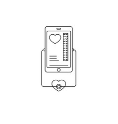 Online and tele medicine icon black and white vector