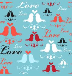Pattern lovers birds vector