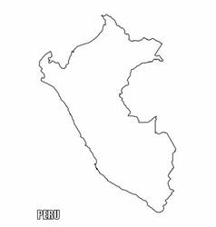 Peru outline map vector