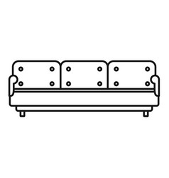 pillow sofa icon outline style vector image