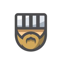 prisoner men head icon cartoon vector image