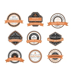 Quality ang warranty labels vector