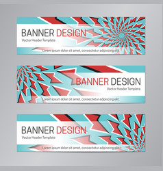 red blue banner design web header template vector image