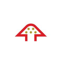 red mushroom logo icon symbol vector image