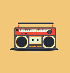 retro cassette radio player vector image