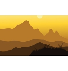 Scenery noon at mountains vector