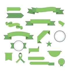 Set of ribbons Modern flat icons in vector