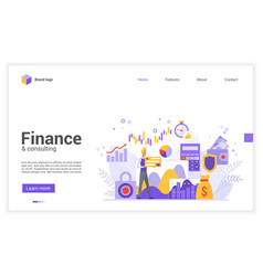 Sophisticated modern financial world flat vector