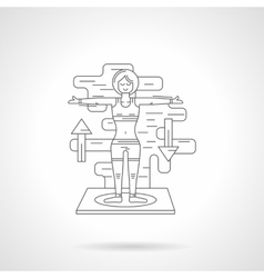 Sport exercises detail line icon vector image