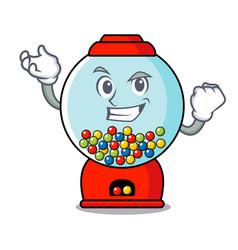 successful gumball machine character cartoon vector image