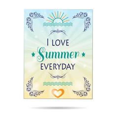 summer poster background vector image