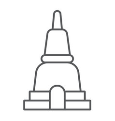 thai pagoda thin line icon asia and architecture vector image