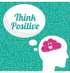 Think postive design vector