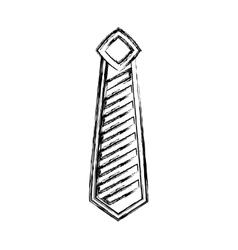 Tie elegant isolated icon vector
