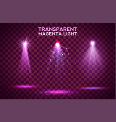 transparent magenta lighy effects on a dark vector image