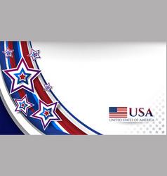 Usa star background design vector