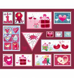 Valentine's design elements vector image