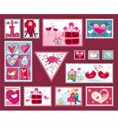 Valentine's design elements vector image