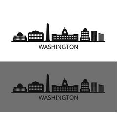 Washington icon in on white background vector