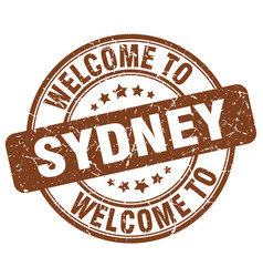 Welcome to sydney brown round vintage stamp vector