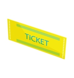 Yellow ticket icon cartoon style vector image