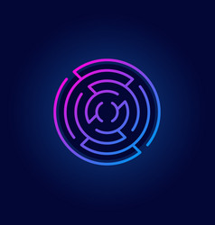 colorful round maze line icon vector image