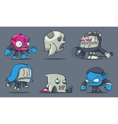 funny cartoon game monsters vector image vector image