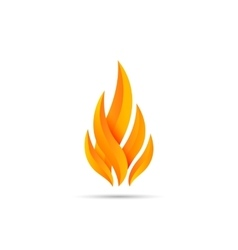 Modern fire icon vector image