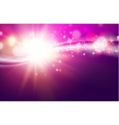 Shining violet flow vector image