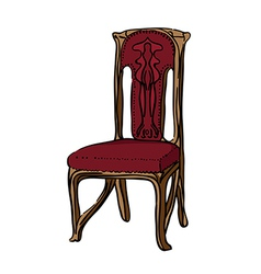 1900 style decorated chair vector image vector image