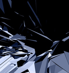 abstract 3d geometric lines vector image vector image
