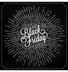 Black Friday logo with on background vector image