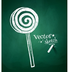 Chalkboard drawing of candy vector image vector image