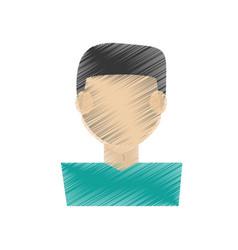 drawing guy faceless character vector image