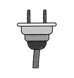 Electrical plug icon vector