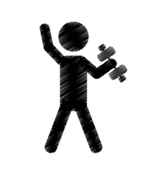 exercise pictogram icon image vector image