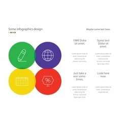 Infographic page template design Useful for vector image vector image