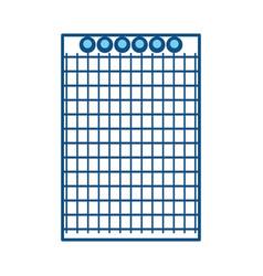 note book sheet vector image vector image